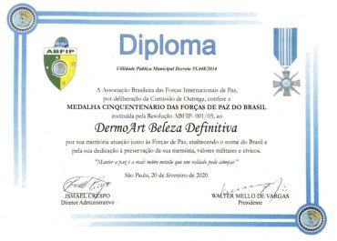 Diploma ABFIP ONU (Reconhecimento Social)